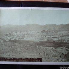 Fotografía antigua: ANTIGUA ALBÚMINA VISTA GENERAL DE CARTAGENA AÑO 1885 FOTOGRAFÍA DE VALERO HERMANOS. 21X30 CM.. Lote 227857975