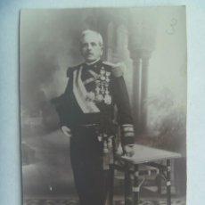 Fotografía antigua: FOTO DE GENERAL DE ARTILLERIA NAVAL, VETRANO GUERRA CUBA, ETC. CASTELLON, 1924. Lote 256164790