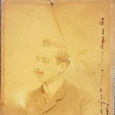 Fotografía antigua: ENRIQUE GARCIA PÉRIS (VALENCIA, 1841-1918) FOTOGRAFÍA FIRMADA Y DEDICADA. Lote 231546040