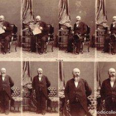 Fotografía antigua: CDV ANDRE ADOLPHE EUGENE DISDÉRI. ALBÚMINA CON 8 TARJETAS DE VISITA SIN CORTAR. Lote 234887250