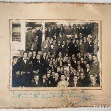 Fotografía antigua: FOTOGRAFÍA DE FRANCISCO SANCHEZ , LA UNIÓN ILUSTRADA , MÁLAGA DEDICADA A ANTONIO CHAMIZO 1929. Lote 234896175