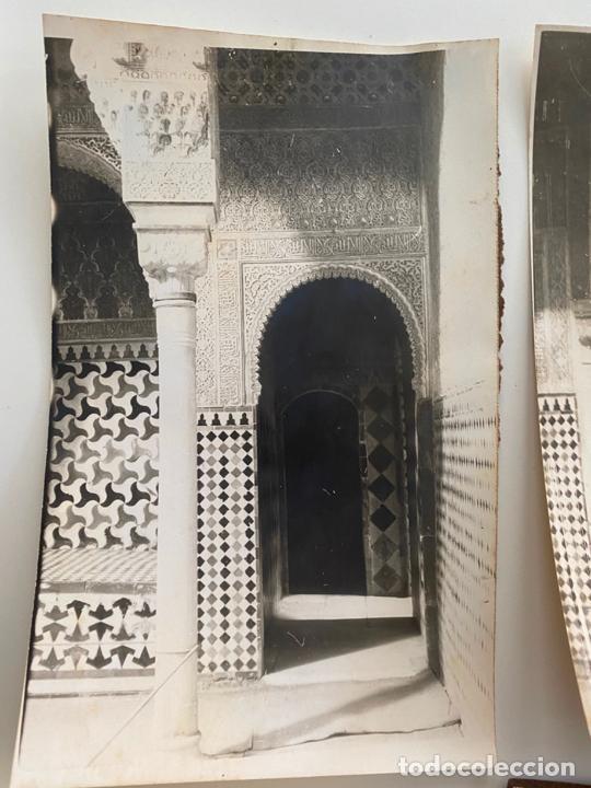 Fotografía antigua: Lote de 25 fotografías originales realizadas en el interior de la Alhambra , Granada . - Foto 5 - 234899530
