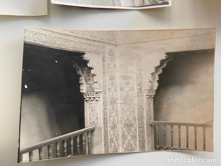 Fotografía antigua: Lote de 25 fotografías originales realizadas en el interior de la Alhambra , Granada . - Foto 6 - 234899530