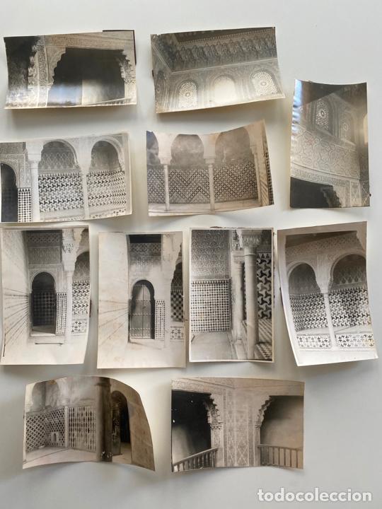 Fotografía antigua: Lote de 25 fotografías originales realizadas en el interior de la Alhambra , Granada . - Foto 8 - 234899530