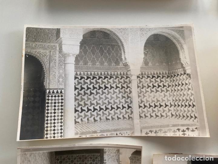 Fotografía antigua: Lote de 25 fotografías originales realizadas en el interior de la Alhambra , Granada . - Foto 9 - 234899530