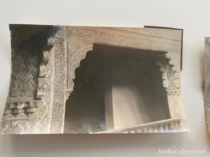 Fotografía antigua: Lote de 25 fotografías originales realizadas en el interior de la Alhambra , Granada . - Foto 10 - 234899530