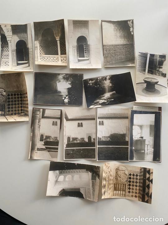 LOTE DE 25 FOTOGRAFÍAS ORIGINALES REALIZADAS EN EL INTERIOR DE LA ALHAMBRA , GRANADA . (Fotografía Antigua - Albúmina)