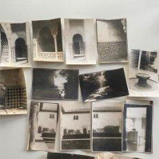 Fotografía antigua: LOTE DE 25 FOTOGRAFÍAS ORIGINALES REALIZADAS EN EL INTERIOR DE LA ALHAMBRA , GRANADA .. Lote 234899530