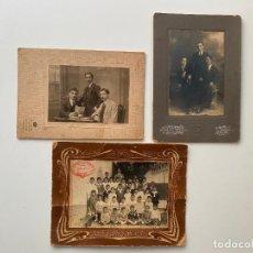 Fotografía antigua: 3 FOTOGRAFÍAS DE MÁLAGA , DISTINTOS PERSONAJES , COLEGIO SAN CRISTOBAL 1927 , ART FOT , M . REY. Lote 235064025
