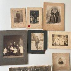 Fotografía antigua: LOTE ANTIGUAS FOTOGRAFÍAS VARIADAS , PERSONAJES , SANTANDER 1918 , MADRID AMADOR , MEXICO. Lote 235067295