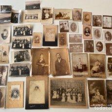 Fotografía antigua: LOTE DE 42 ANTIGUAS FOTOGRAFÍAS VARIADAS DE PERSONAJES , EXTRANJERAS DESDE 1919. Lote 235078575
