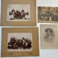 Fotografía antigua: LOTE DE 4 FOTOGRAFÍAS ANTIGUAS DE MILITARES Y PERSONAJES CONSTANTINE - GUIGLION. Lote 235120335