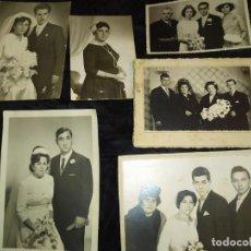 Fotografía antigua: FOTOGRAFÍAS BODAS MATRIMONIOS HOMBRE MUJER RIPOLL VILLENA LÓPEZ EGEA SUECA REINA.85 CABAÑAL VALENCIA. Lote 235354450