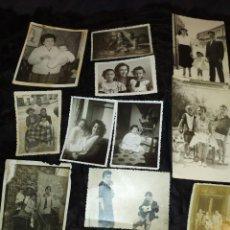 Fotografía antigua: LOTE FOTOGRAFIAS NIÑOS CON MADRES PADRES FOTOS MARCOS VALENCIA J. CUENCA CASA ESCUDER ALBACETE. Lote 235612205