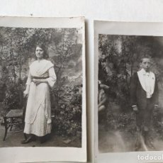 Fotografía antigua: RETRATO DE JOVEN EN EL CAMPO. PRINCIPIO DEL SIGLO XX.. RETRATO DE NIÑO DE COMUNIÓN EN EL CAMPO.. Lote 236039240
