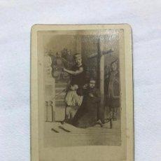 Fotografía antigua: ANTIGUA FOTOGRAFIA ALBUMICA DEL BEATO JUAN GABRIEL PERBOYRE, DE FINALES DEL XIX, TEXTO EN REVERSO. Lote 236128830