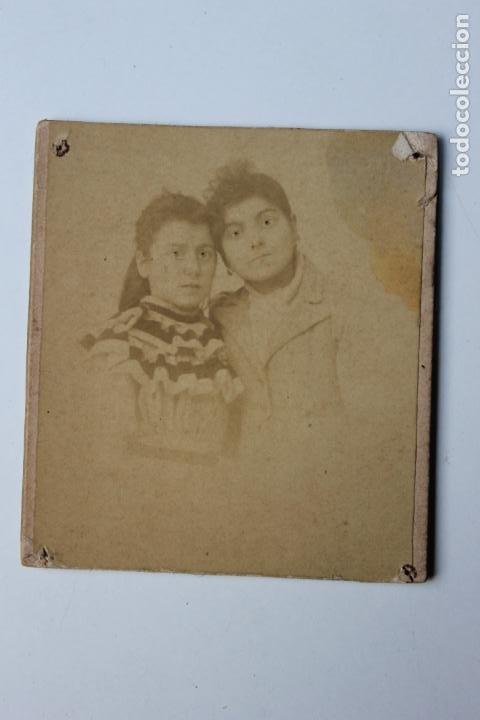 FOTOGRAFIA MADRE Y NIÑA, FOTOGRAFO A. COYNE, ZARAGOZA, ANTES DE 1900 (Fotografía Antigua - Albúmina)