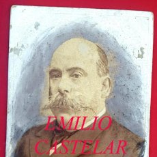 Fotografía antigua: EMILIO CASTELAR - FOTOGRAFIA FERNANDO DEBAS - MADRID. Lote 243847600
