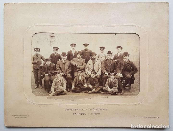 CENTRO POLITÉCNICO DE SAN ISIDORO. PALENCIA 1904-1905. J. DAVID (Fotografía Antigua - Albúmina)