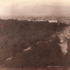 Fotografía antigua: MADRID. VISTA PANORÁMICA DESDE LA ESCUELAS AGUIRRE.. Lote 245367765