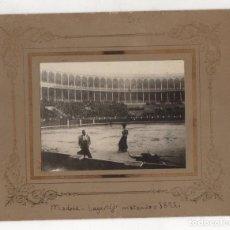 Fotografía antigua: FOTOGRAFIA ALBUMINA LAGARTIJO MATANDO. MADRID, 1892. Lote 245898740