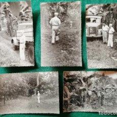 Fotografía antigua: LOTE FOTOS GUINEA ESPAÑOLA. VISITA A LAS PLANTACIONES. Lote 245955255