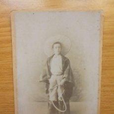 Fotografía antigua: SEGOVIA FOTOGRAFO R MONTES JOVEN ATAVIADO CON TRAJE DE MONTAR. Lote 245993195