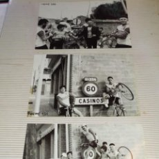 Fotografía antigua: ANTIGUO ÁLBUM 64 FOTOGRAFÍAS PEÑA CICLISTA TAVERNES BLANQUES 1985 ÚNICAS? TABERNES HISTORIA DE PEÑA. Lote 246130030