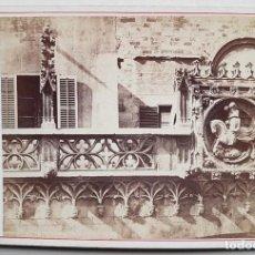 Fotografia antiga: BARCELONA, DETALLE EXTERIOR DE LA AUDIENCIA. J. LAURENT. Lote 246620455