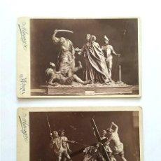 Fotografía antigua: SEMANA SANTA DE MURCIA. EL PRENDIMIENTO Y LA CAÍDA. OBRAS DE SALZILLO. GRAN FOTOGRAFÍA ALMAGRO. Lote 246964295