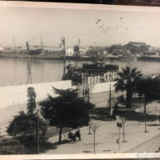 Photographie ancienne: ANTIGUA FOTO CADIZ - CONSTRUCCION DEL PUERTO - MEDIDA 23X17,5 CM. Lote 248281715
