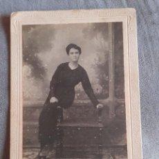 Fotografía antigua: FOTOGRAFÍA DE ALBÚMINA DE MARSAL DENIA MUJER SENTADA EN BANCO. Lote 249024390