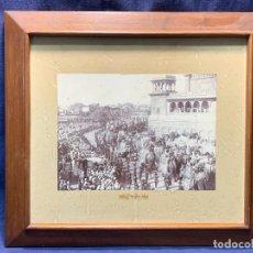 Fotografía antigua: FOTO ALBUMINA 17212 INDIA ESTATE ENTRY S XIX LLEGADA MARAJAS MAHARAJAS ELEFANTES CORTEJO 42X47C. Lote 249336825