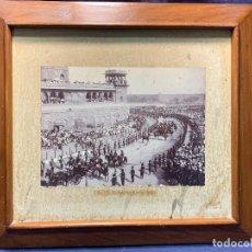 Fotografía antigua: FOTO INDIA CORTEJO MAHARAJAS MARAJAS S XIX 17219 ALBUMINA CARROZA PERSONALIDAD BRITANICA 42X47. Lote 249348445