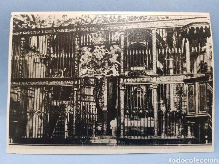 FOTOGRAFIA INTERIOR DE LA IGLESIA ARCIPRESTAL DE SANTIAGO, VILLENA AÑO 1921 (Fotografía Antigua - Albúmina)