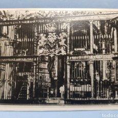 Fotografía antigua: FOTOGRAFIA INTERIOR DE LA IGLESIA ARCIPRESTAL DE SANTIAGO, VILLENA AÑO 1921. Lote 252699770