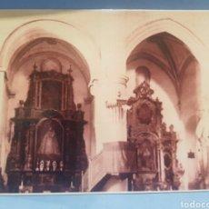 Fotografia antiga: FOTOGRAFIA INTERIOR DE LA IGLESIA DE SANTA MARÍA, VILLENA , AÑOS 1920. Lote 252707250