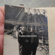 Fotografía antigua: ANTIGUA FOTOGRAFÍA PAREJA - TIBIDABO - BARCELONA -. Lote 253016940