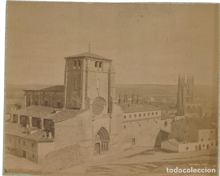 Fotografía antigua: Burgos San Esteban y catedral. 2 fotografías. cianotipo y albúmina 1889 - Foto 2 - 253547595