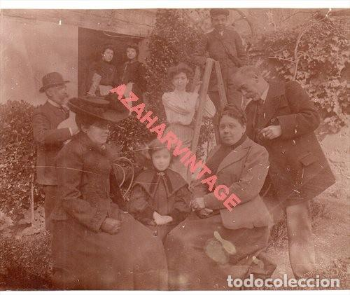 ALBUMINA, FOTOGRAFIA FAMILIAR, FECHADA EN ZARAGOZA EN 1904, 15X12 CMS (Fotografía Antigua - Albúmina)