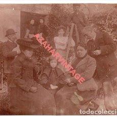 Fotografía antigua: ALBUMINA, FOTOGRAFIA FAMILIAR, FECHADA EN ZARAGOZA EN 1904, 15X12 CMS. Lote 254613060