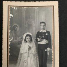 Fotografía antigua: FOTOGRAFÍA DE COMUNIÓN - JÁTIVA 1941 - FOTOGRÁFO R. PASTOR. Lote 254774910