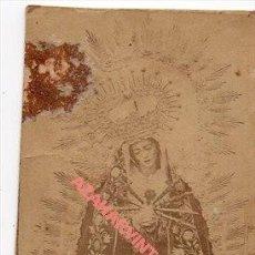 Fotografía antigua: SIGLO XIX, ALBUMINA VIRGEN DE LOS DOLORES, LOCALIDAD A IDENTIFICAR, 54X94MM. Lote 257517905