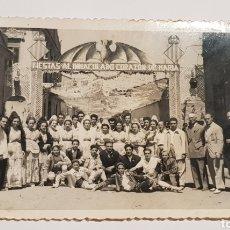 Fotografia antiga: ANTIGUA FOTOGRAFÍA VALENCIA - FALLAS / FIESTAS AL INMACULADO CORAZON DE MARIA. Lote 260732160