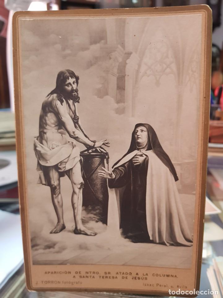 ANTIGUA FOTOGRAFIA ALBUMINA RELIGIOSA SANTA TERESA DE JESUS J. TORRON AVILA (Fotografía Antigua - Albúmina)