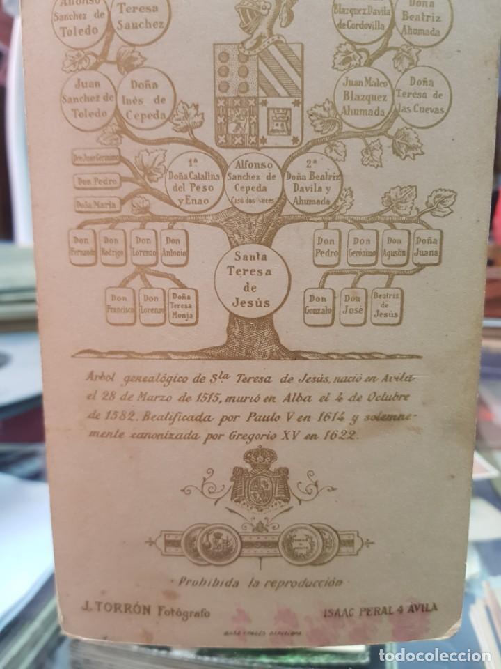 Fotografía antigua: ANTIGUA FOTOGRAFIA ALBUMINA RELIGIOSA SANTA TERESA DE JESUS J. TORRON AVILA - Foto 2 - 260870280