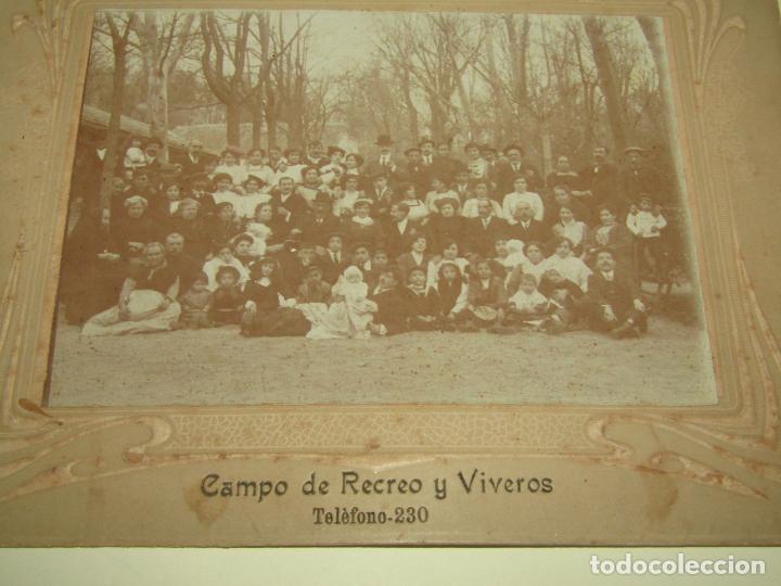 Fotografía antigua: Antigua Fotografía del Fotógrafo R. MORA en CAMPO DE RECREO y VIVEROS - Foto 3 - 260872745