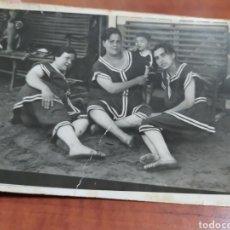 Fotografía antigua: FOTO ANTIGUA , BAÑISTAS.. Lote 261184475