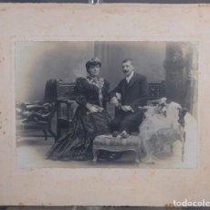 Fotografía antigua: FOTOGRAFÍA ANTIGUA DE NAPOLEON RETRATO DAMA Y CABALLERO SIGLO XIX. Lote 261270150