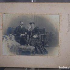Fotografía antigua: FOTOGRAFÍA ANTIGUA DE NAPOLEON RETRATO DAMA Y CABALLERO SIGLO XIX. Lote 261270240